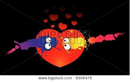 cartoon virus and germs in love