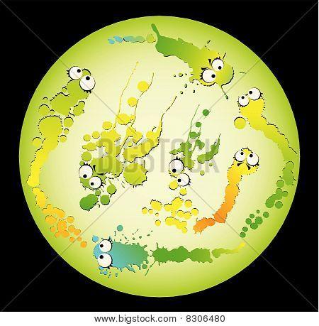 cartoon virus and germs