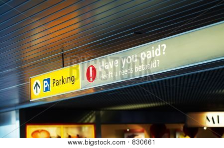 pay for parking sign