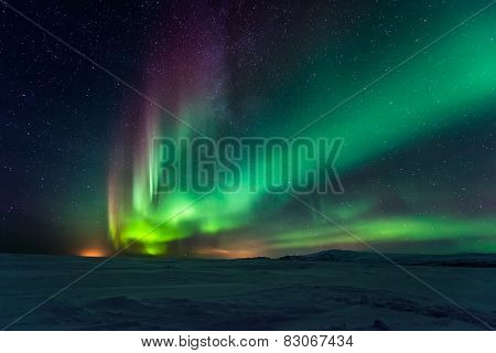 Aurora borealis, northern lights