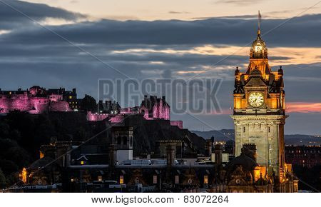 Edinburgh castle and Cityscape
