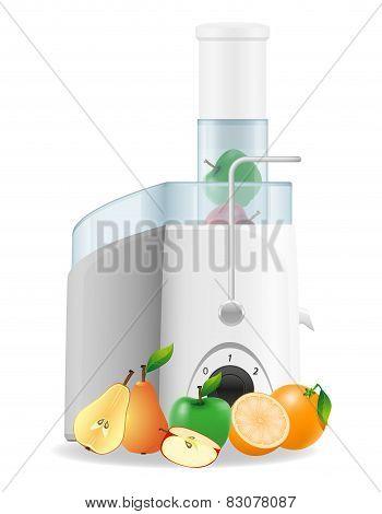 Electric Kitchen Juicer Vector Illustration