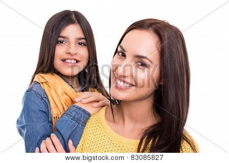 Woman And Little Girl