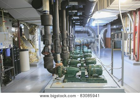 industrial area - industrial system of ventilation and air-condi