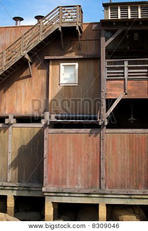 Old Cannery Row Building With Window