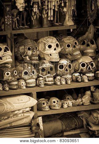 Ceramic Skulls Souvenirs