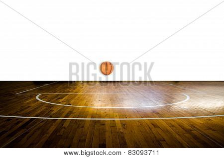 Basketball Court With Ball