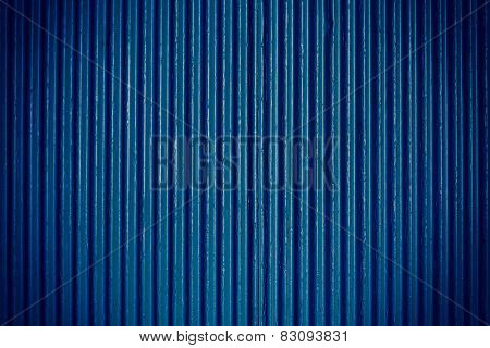 Navy Blue Corrugated Sheet Metal