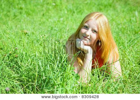 Red-haired Teen Girl