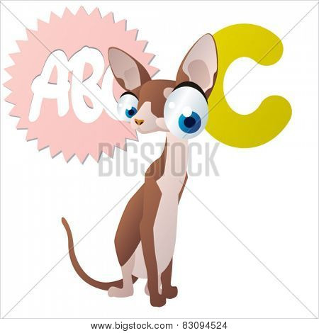 Vector animal abc: C is for Cat