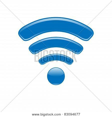 Wireless Network Symbol wifi icon blue
