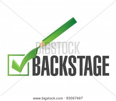Backstage Check Mark Illustration Design