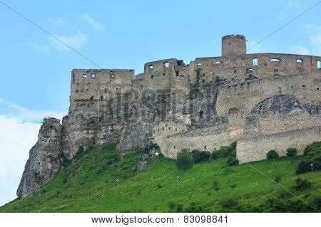 The Ruins Of Spis Castle (or (spissky Hrad). Slovakia.