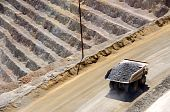 pic of porphyry  - Giant Ore Truck at Bingham Kennecott Copper Mine - JPG