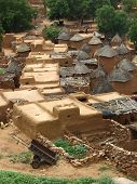 picture of dogon  - Aerial view of an interior village of Mali - JPG