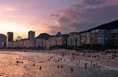 picture of carnival rio  - Beautiful Sunset in Copacabana Beach - JPG