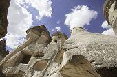 pic of chimney rock  - Vulcanic fairy chimneys located in Cappadocia Turkye - JPG