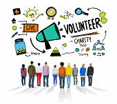 picture of charity relief work  - Volunteer Charity and Relief Work Donation Help Concept - JPG