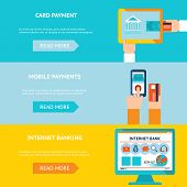 Постер, плакат: Internet banking and mobile payments