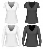 stock photo of v-neck collar  - Women - JPG