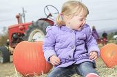 stock photo of little young child children girl toddler  - Happy little child - JPG