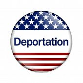 stock photo of deportation  - Deportation Button - JPG