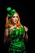 pic of saint patrick  - Red hair girl in Saint Patrick - JPG