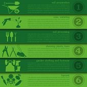 picture of work boots  - Garden work infographic elements - JPG