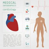 picture of defibrillator  - Medical and healthcare infographic - JPG