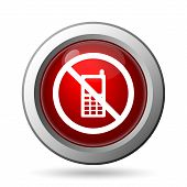 image of restriction  - Mobile phone restricted icon - JPG