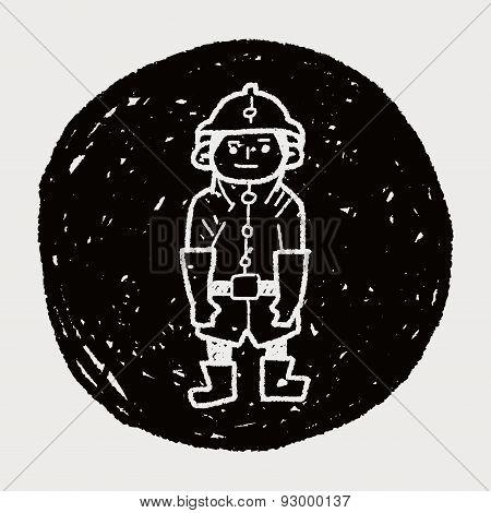 Fireman Doodle