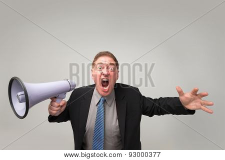 Furious Businessman