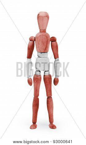 Wood Figure Mannequin With Flag Bodypaint - Austria