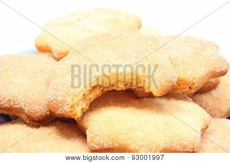 Heap Of Fresh Homemade Cookies With Sugar