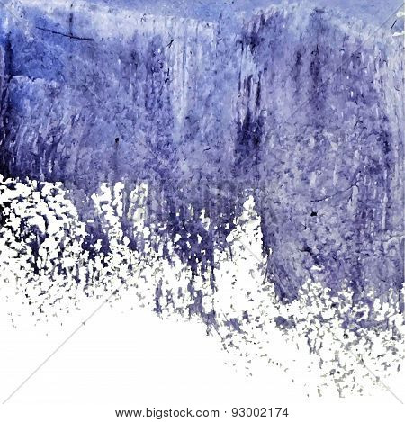 Blue Grunge Abstract Watercolor Wet Spot
