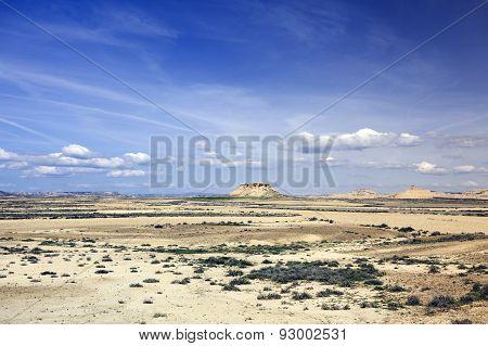 desert in Bardenas Reales Navarra Spain