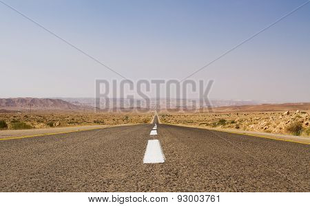 Beautiful Road In The Desert .