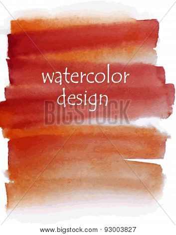 Orange Watercolor Background For Your Design