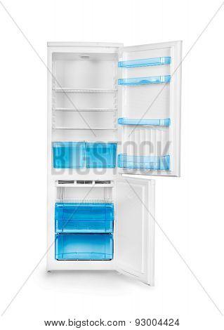 Refrigerator Isolated On White Baground