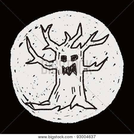 Tree Monster Doodle