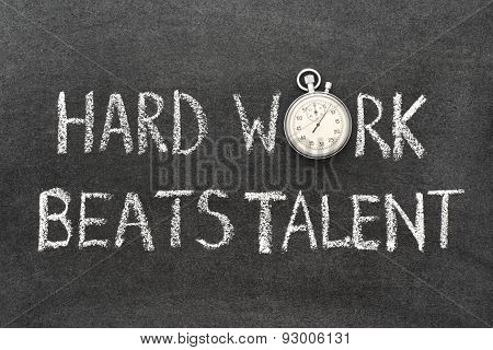 Hard Work Beats
