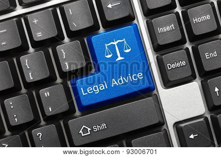 Conceptual Keyboard - Legal Advice (blue Key)