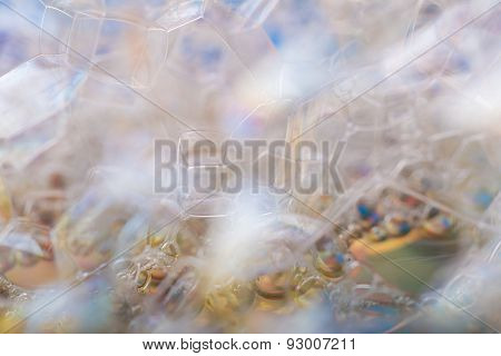 Abstract Background Of Air Bubbles In Soap Foam