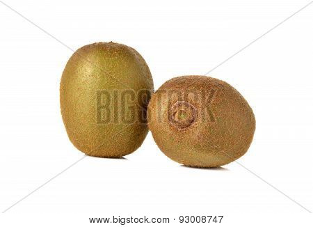 Closeup Kiwi Fruit On White Background