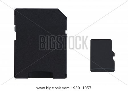 MicroSD card with full size SD card adapter