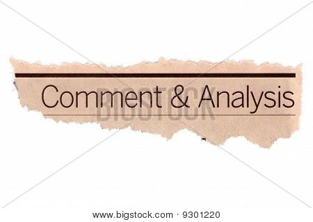 Comment and analysis
