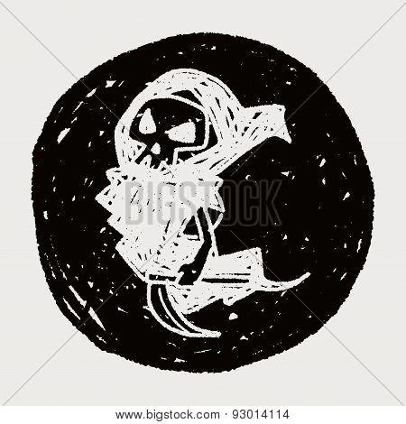 Grim Reaper Doodle