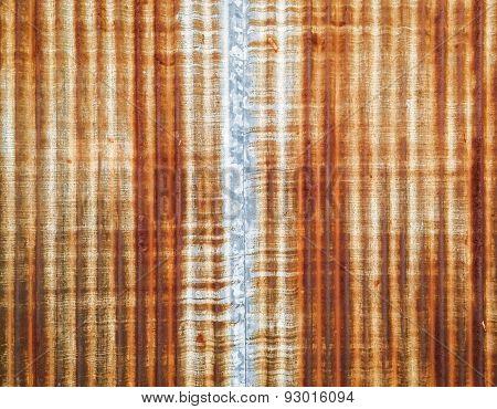 Rusty Zinc Wall