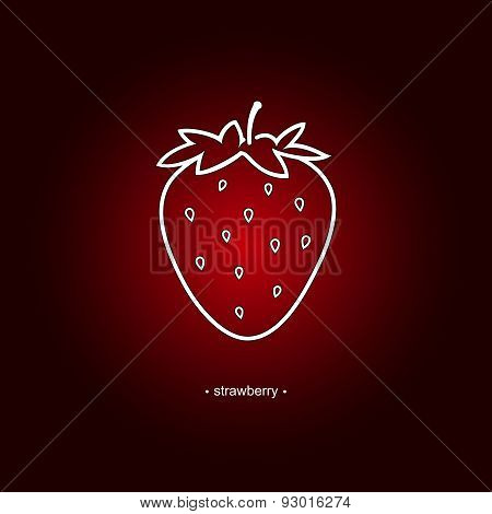 Image Strawberry in the Contours