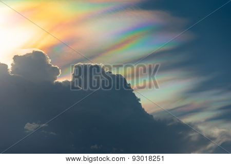 Rainbow Cloud  With Spectrum Light
